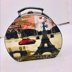 Vintage Paris Wooden Bag